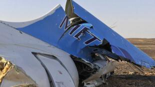 俄西奈半島失事班機殘骸