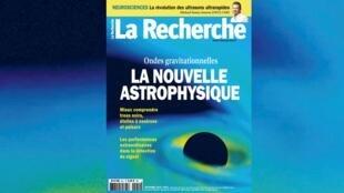 Couverture du magazine La Recherche.