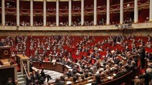 La Asamblea Nacional francesa, 16 de noviembre de 2011.