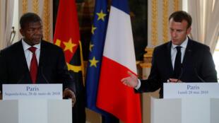 João Lourenço e Emmanuel Macron