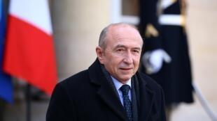 O ministro do interior francês, Gérard Collomb.