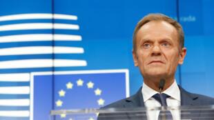 Donald Tusk, chủ tịch Hội Đồng Châu Âu. Ảnh chụp ngày 21/03/2019 tại Bruxelles.