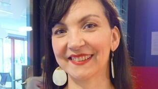 La bailarina, actriz y realizadora Laura Lago en los estudios de RFI