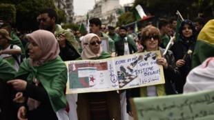 Manifestação em Argel. 05 de Abril de 2019