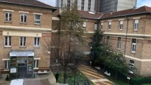 Khu vực cách ly các bệnh nhân bị nghi nhiễm virus corona tại bệnh viện Bichat, quận 18, Paris.