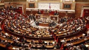 La Asamblea Nacional francesa, conformada por 577 diputados.