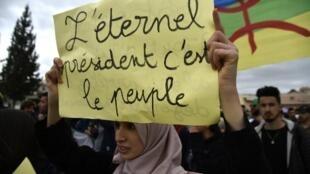 Manifestação em Argel. 05 de Abril de 2019.