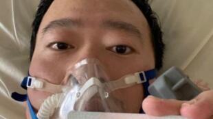 图为被训诫医生李文亮感染武汉病毒急救中生前照片