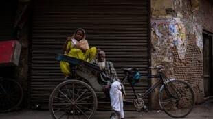 Dans une rue du vieux quartier de New Delhi.