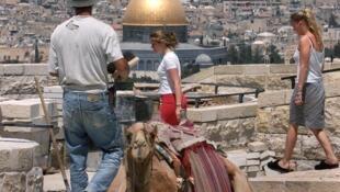 Le Mont des Oliviers à Jérusalem.