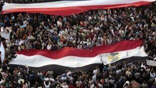 Protesto contra o presidente egípcio, Mohammed Morsi, nas ruas do Cairo.