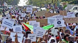 Marcha em Maputo, capital moçambicana.