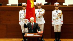 Ông Nguyễn Phú Trọng tuyên thệ nhậm chức chủ tịch Nước trước Quốc Hội, Hà Nội, ngày 23/10/2018.