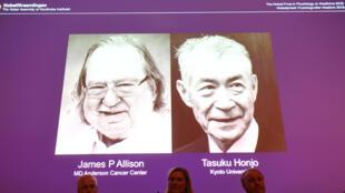 O prêmio Nobel de Medicina de 2018 foi atribuído aos imunologistas James P. Allison eTasuku Honjo