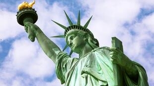 纽约自由女神像局部图像