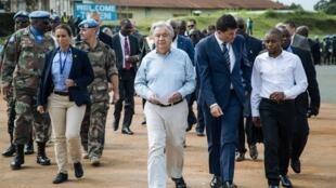 Arrivée, à Beni, dans l'est de la RDC, du secrétaire général de l'ONU, Antonio Guterres, le 1er septembre 2019.