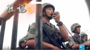 """解放军驻港部队演习宣传片警告""""后果自负"""""""