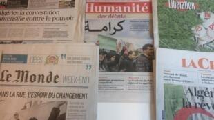 Primeiras páginas dos diários franceses de 1 de Março de 2019.