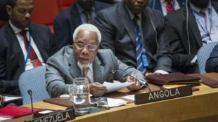 Ismael Martins em discurso no Conselho de Segurança