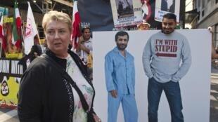 Manifestaciones en Nueva York contra el discurso de Ahmadinejad.
