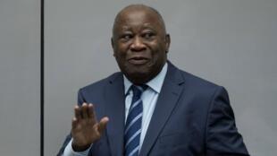 L'ex-président ivoirien Laurent Gbagbo, à la CPI, en janvier 2019.