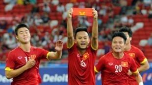 Đội tuyển Việt Nam trong một trận đấu giải SEA Games.