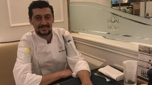 Chef Edgar Alves no Café Bela Vista do Hotel Grand Lapa de Macau a 12 de Dezembro de 2018.