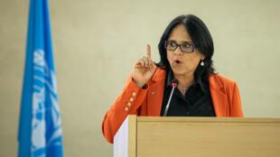 A ministra Damares Alves está em Genebra para participar de reuniões na ONU