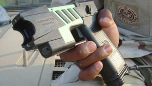 The United States military version of commercial Tasers for non-lethal detainment.