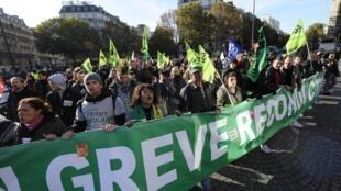 Esta quinta-feira será mais um dia de greve geral na França.