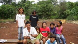 Guarani family of Mato Grosso do Sul, Brazil