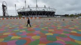 Visão externa do Parque Olímpico de Londres, em foto do dia 18 de abril.