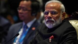 Le Premier ministre indien Narendra Modi au sommet de l'Asean à Bangkok le 4 novembre 2019.