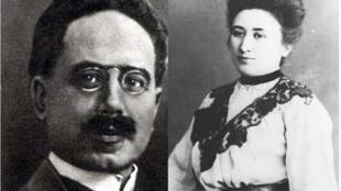 Karl Liebknecht et Rosa Luxemburg.