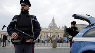 Reinforced security at St Peter's in Rome