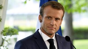 7月30日訪問芬蘭的法國總統馬克龍與芬蘭總理舉行新聞發布會