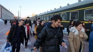 黑龍江煤城鶴崗市火車站一景,截至2月6日24點該市已有2人確診新冠病毒。圖片攝於1月3日。