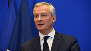Le ministre français de l'Économie Bruno Le Maire, le 9 mars 2020 à Paris.