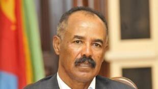 O  Presidente da Eritreia Isaias Afwerki.