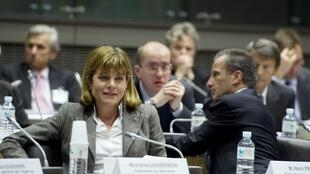 Anne Lauvergeon, CEO of French nuclear energy firm Areva, attends a hearing at the National Assembly in Paris. 16 April 2011.