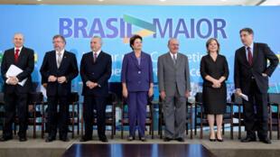A Presidenta Dilma Rousseff durante lançamento do Plano Brasil Maior