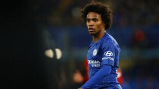Le footballeur Willian a inscrit le premier but de Chelsea (victoire 2-0) contre Liverpool, lors d'un match comptant pour la Coupe d'Angleterre,  le 3 mars 2020.