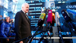 Bộ trưởng Nội Vụ Đức Horst Seehofer và là lãnh đạo CSU, phát biểu sau cuộc bầu cử địa phương tại Bayern ngày 15/10/2018.