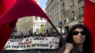 Arts industry workers protest in Paris, 20th March.