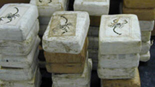 40 kilos de cocaïne que deux commissaires de police auraient fait disparaître après une saisie de près de 400 kilos au Bénin en Afrique de l'Ouest.