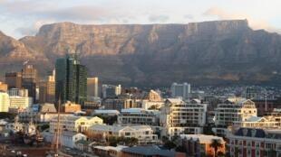 Vue de la ville du Cap, en Afrique du Sud.