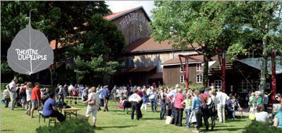 Le théâtre du peuple à Bussang dans les Vosges.