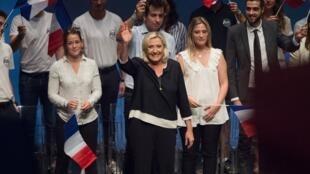 Marine Le Pen lors de son discours de rentrée à Fréjus le 15 septembre 2019.