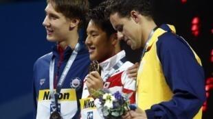 Brasil conquinta mais uma medalha no Mundial de natação com o bronze de Thiago Pereira.