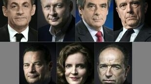 The seven Les Républicains candidates will battle it out in the party primary on November 20.